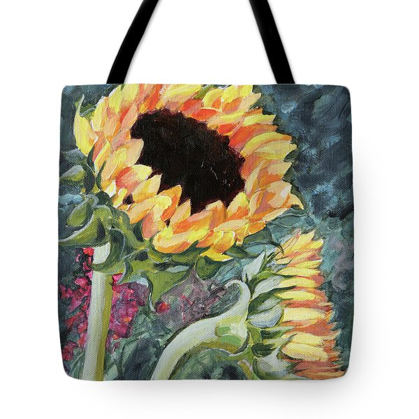 Outdoor Sunflowers Tote Bag