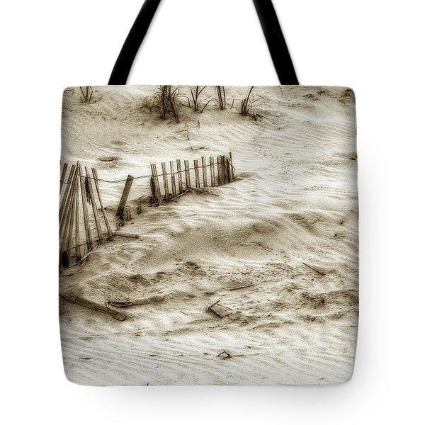 Outer Banks Beach Sand Fence  Tote Bag by Randy Steele