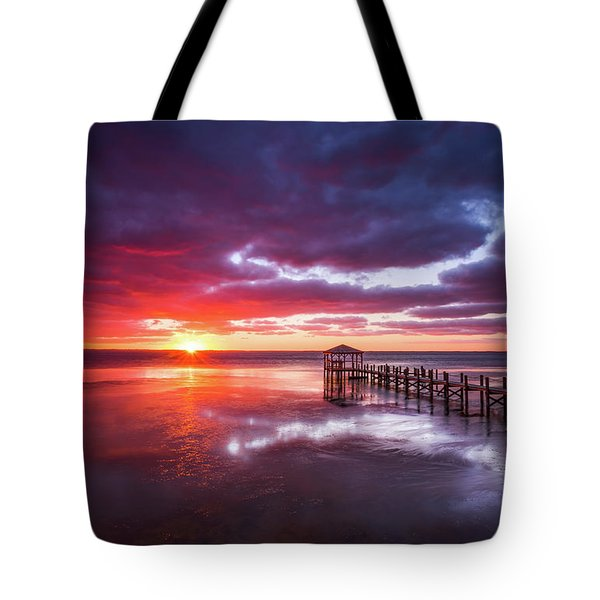 Outer Banks Duck North Carolina Sunset Seascape Photography Obx Tote Bag