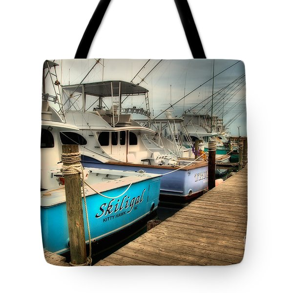 Outer Banks Fishing Boats Waiting Tote Bag