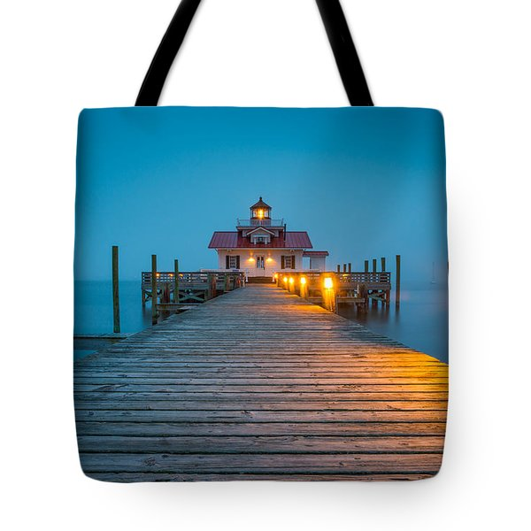 Outer Banks Manteo Nc Roanoke Marshes Lighthouse Obx North Carolina Tote Bag