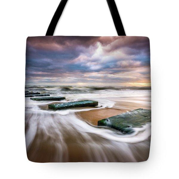 Outer Banks North Carolina Beach Sunrise Seascape Photography Obx Nags Head Nc Tote Bag