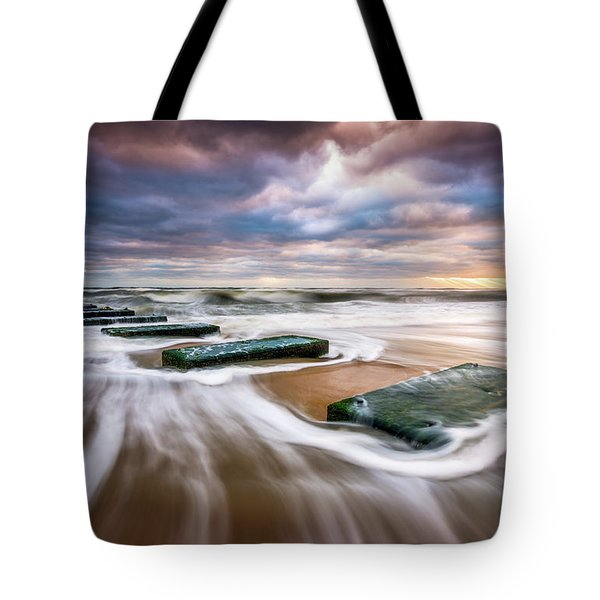Outer Banks North Carolina Beach Sunrise Seascape Photography Obx Nags Head Nc Tote Bag