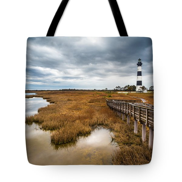 Outer Banks North Carolina Bodie Island Lighthouse Landscape Nc Tote Bag
