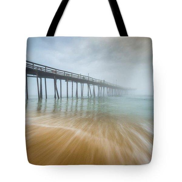 Outer Banks North Carolina Nags Head Obx Nc Beach Pier Seascape Tote Bag