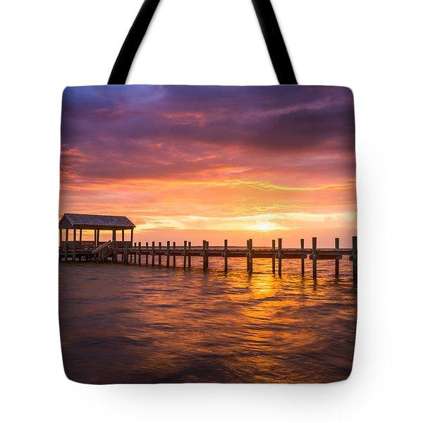 Outer Banks North Carolina Nags Head Sunset Nc Scenic Landscape Tote Bag