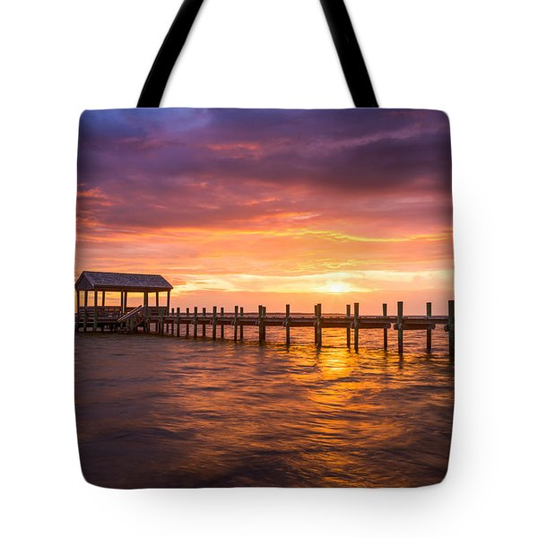Outer Banks North Carolina Nags Head Sunset Nc Scenic Landscape Tote Bag
