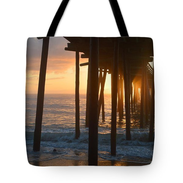 Tote Bag featuring the photograph Outer Banks Pier 7/6/18 by Barbara Ann Bell