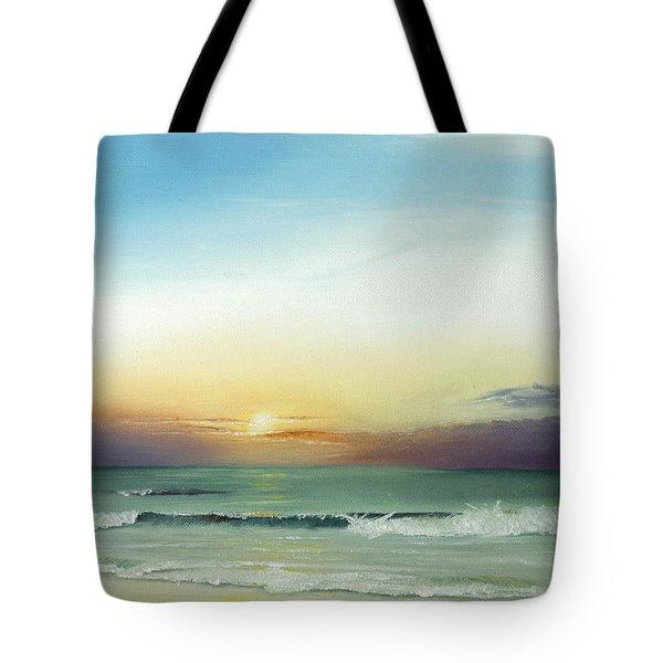 Tote Bag featuring the painting East Coast Sunrise by Albert Puskaric