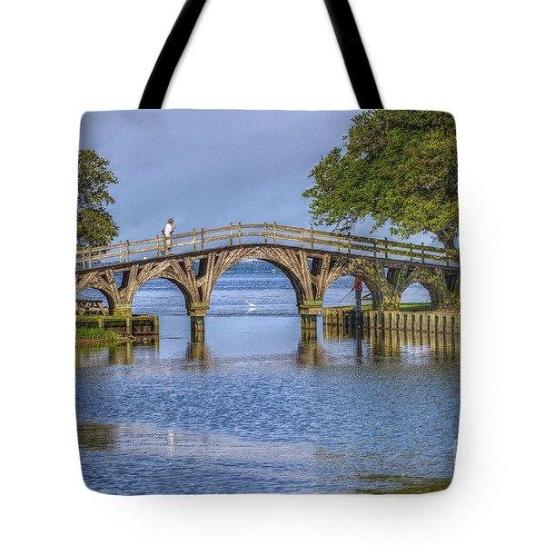 Outer Banks Whalehead Club Bridge  Tote Bag by Randy Steele