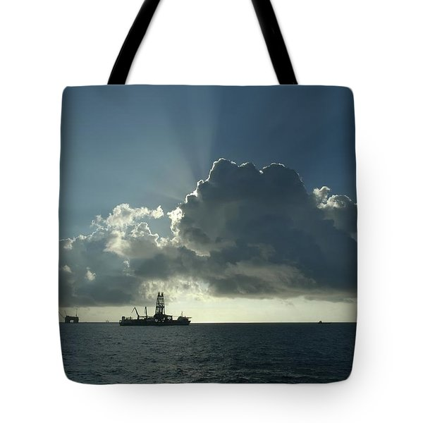 Outer Continental Shelf Oilfield  Tote Bag