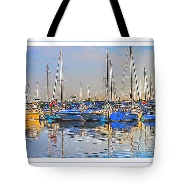 Outer Harbor Marina Tote Bag by Darleen Stry