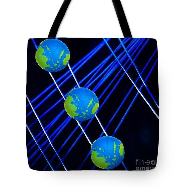 Outer Orbit String,n Balancing Tote Bag