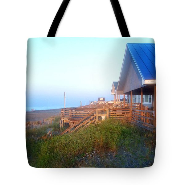 Tote Bag featuring the photograph Outerbanks Sunrise At The Beach by Sandi OReilly