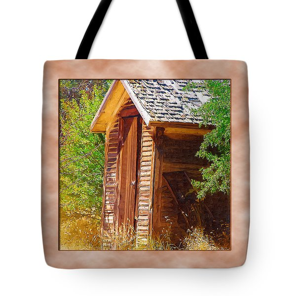 Tote Bag featuring the photograph Outhouse 1 by Susan Kinney