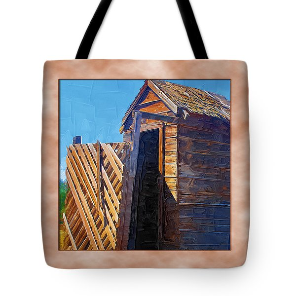 Tote Bag featuring the photograph Outhouse 2 by Susan Kinney