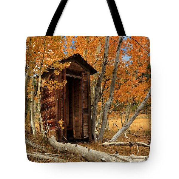 Outhouse In The Aspens Tote Bag
