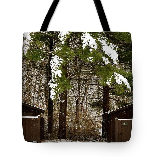 Outhouses In The Cold Tote Bag