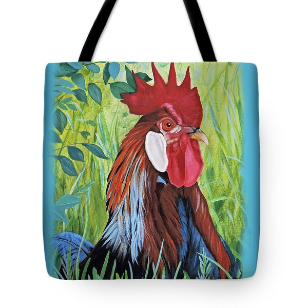 Outlaw Rooster Accessories Tote Bag by Jimmie Bartlett