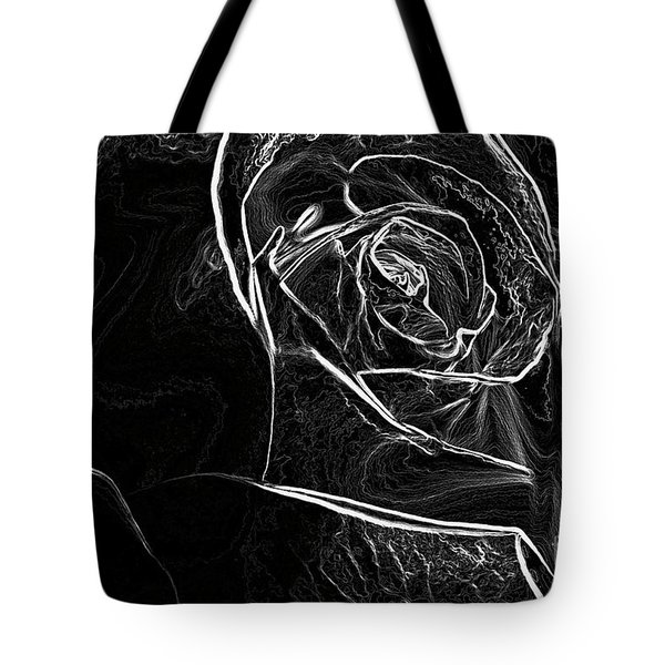 Tote Bag featuring the photograph Outline Of A Rose by Micah May