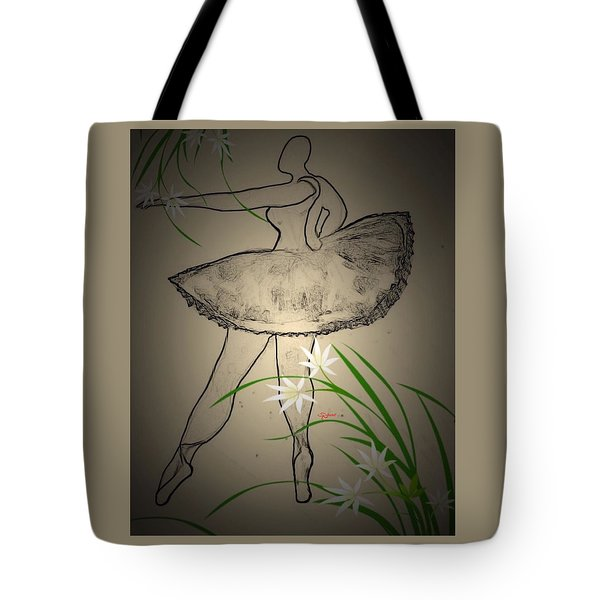 Outlinedballerina Tote Bag