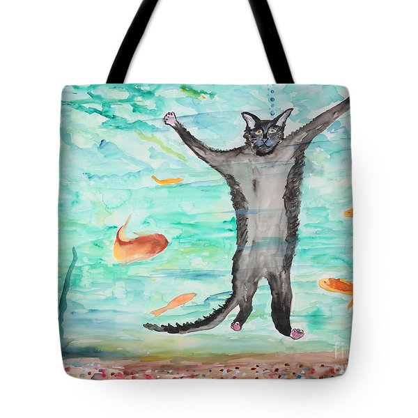 Outside The Fish Tank Tote Bag