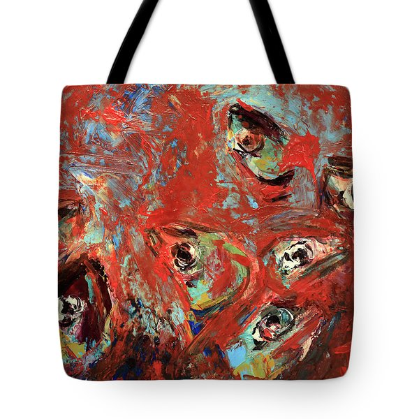 Tote Bag featuring the painting School Is Out by Jim Vance