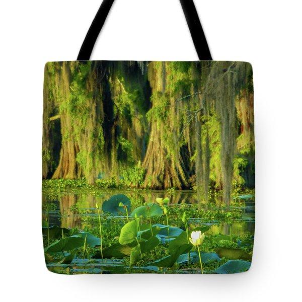 Outstanding Lotus Tote Bag