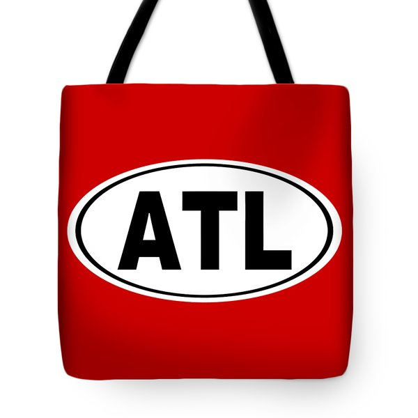 Tote Bag featuring the photograph Oval Atl Atlanta Georgia Home Pride by Keith Webber Jr