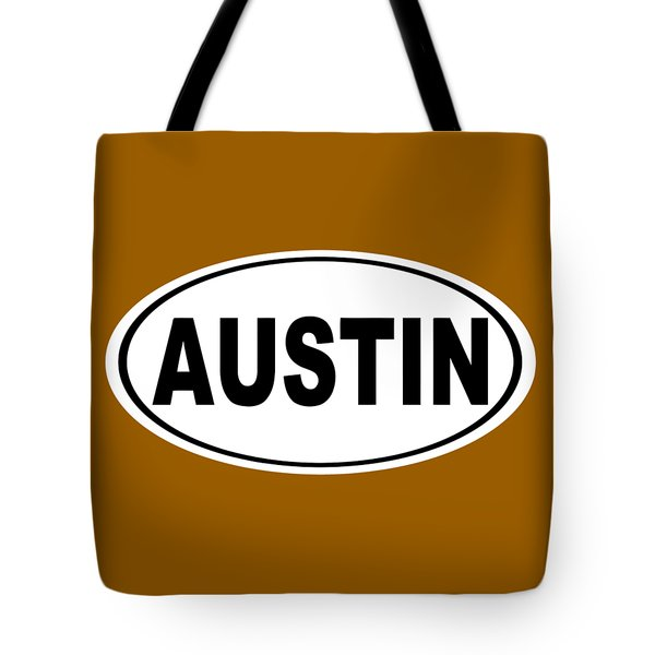 Tote Bag featuring the photograph Oval Austin Texas Home Pride by Keith Webber Jr