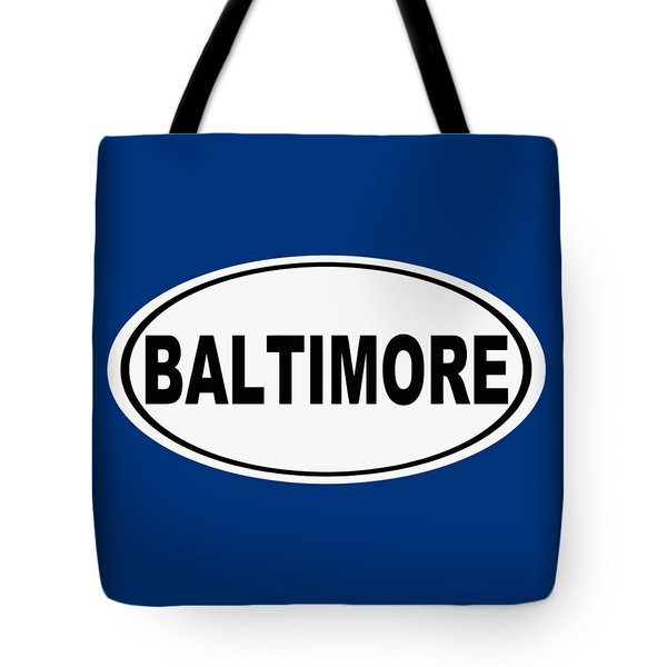 Tote Bag featuring the photograph Oval Baltimore Maryland Home Pride by Keith Webber Jr