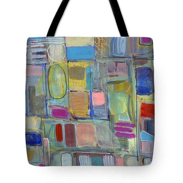 Oval Block Tote Bag