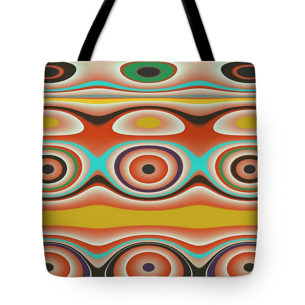 Ovals And Circles Pattern Design Tote Bag by Jessica Wright