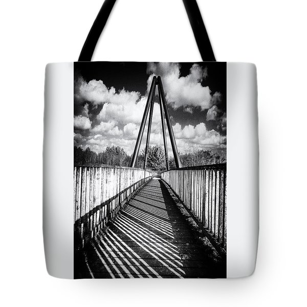 Tote Bag featuring the photograph Over And Under by Nick Bywater