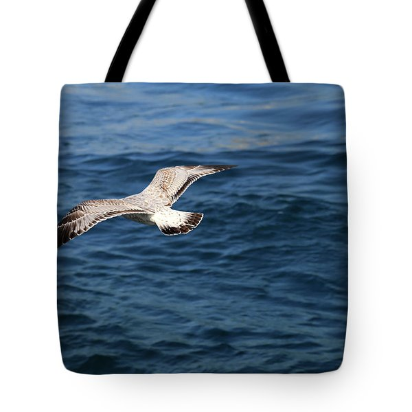 Over Blue Water Tote Bag