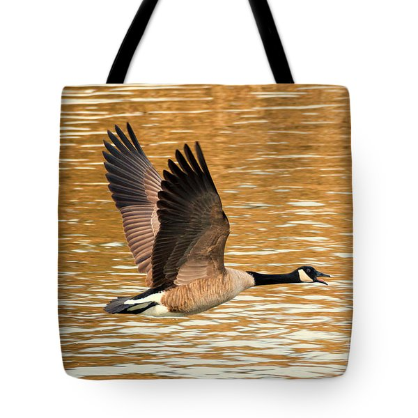 Over Golden Waters Tote Bag