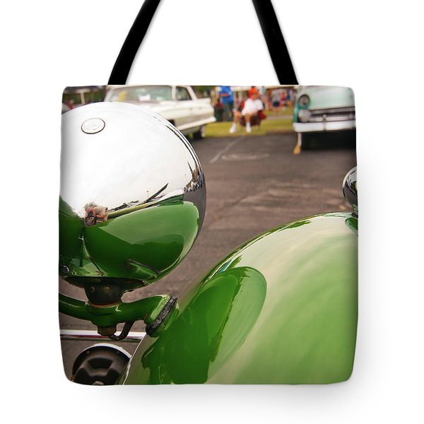 Over My Shoulder 2042 Tote Bag by Guy Whiteley