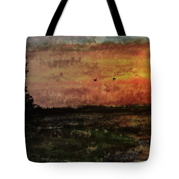 Over Nowhere North Tote Bag by R Kyllo