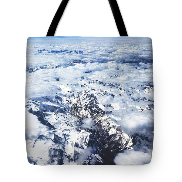 Over The Alps Tote Bag