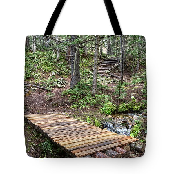 Tote Bag featuring the photograph Over The Bridge And Through The Woods by James BO Insogna
