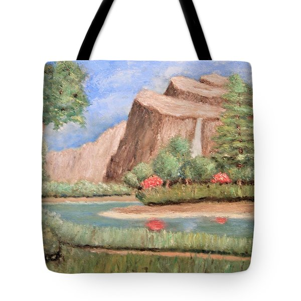 Over The Cliff Tote Bag