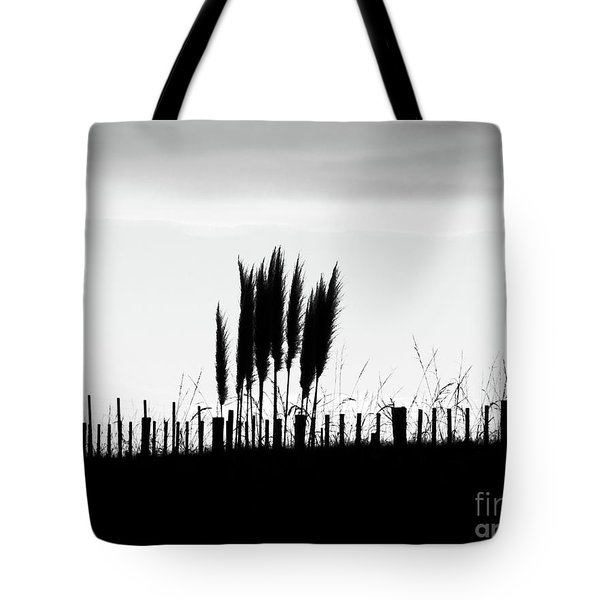 Over The Fence Tote Bag by Karen Lewis