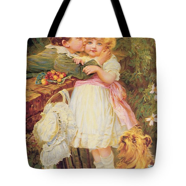 Over The Garden Wall Tote Bag by Frederick Morgan