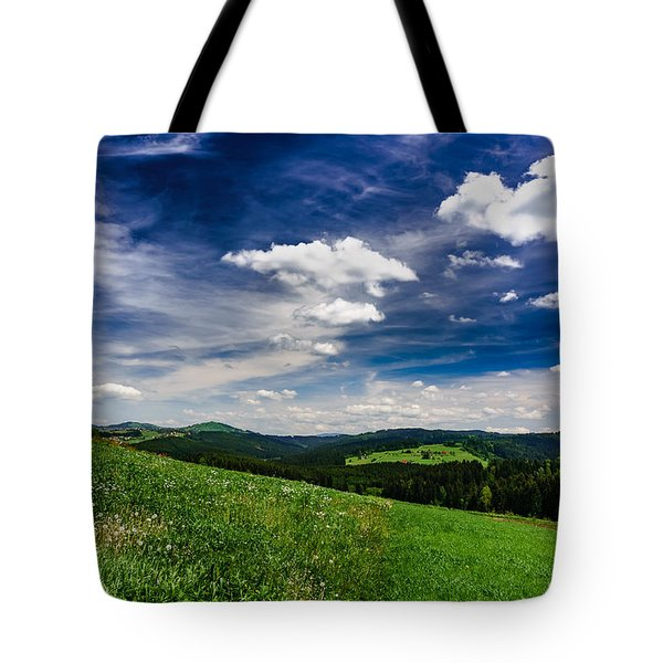 Tote Bag featuring the photograph Over The Green Hills by Dmytro Korol