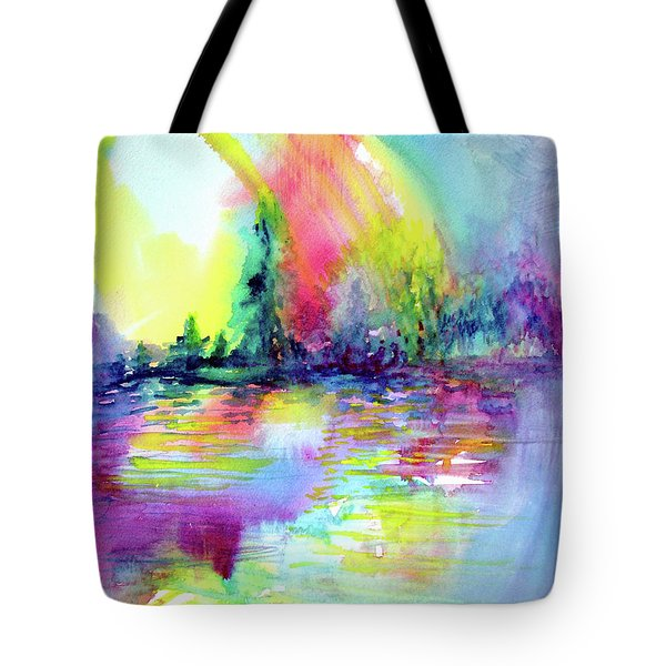 Over The Rainbow Tote Bag by Allison Ashton