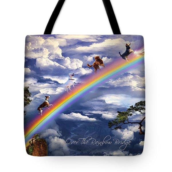 Over The Rainbow Bridge Tote Bag