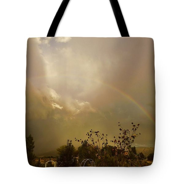 Tote Bag featuring the photograph Over The Rainbow Garden by Deborah Moen