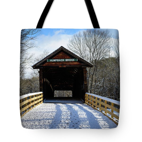 Over The River And Through The Bridge Tote Bag