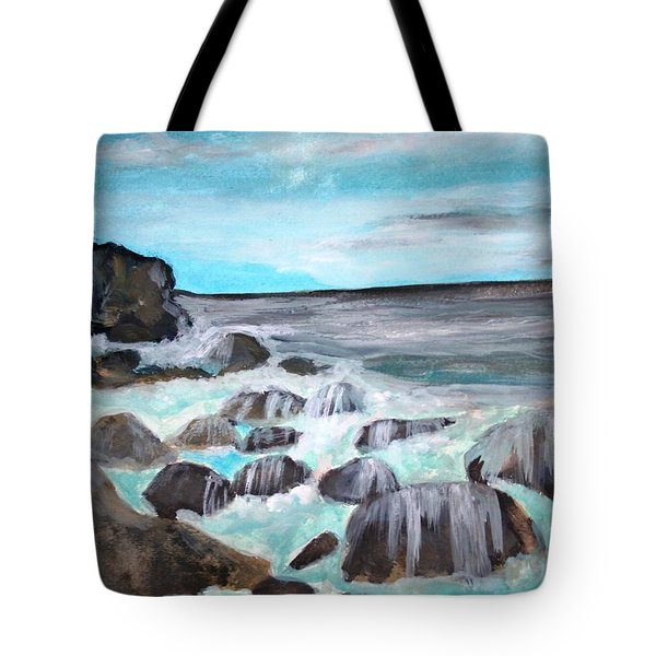 Over The Rocks Tote Bag