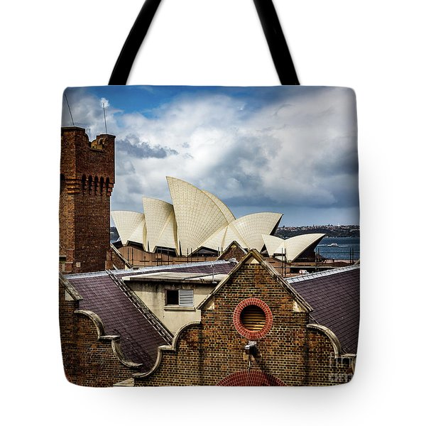 Tote Bag featuring the photograph Over The Roof Tops by Perry Webster
